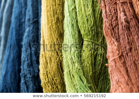 Multicolor thread silks dye from natural color material for woven silk handicraft Stock photo © galitskaya