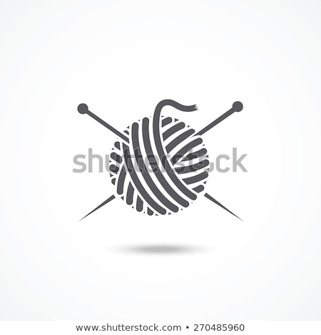 Ball of Yarn Isolated Textile for Handmade. Vector Stock photo © robuart