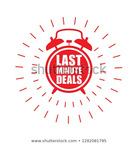 Last minute deals sticker - sale label with alarm clock and hast Stock photo © gomixer