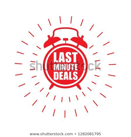 Utolsó perc akciók matrica vásár címke Stock fotó © gomixer