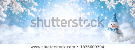 Snowmen in Winter Snowy Forest, Holiday Decor Stock photo © robuart