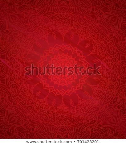 Mandala virágok indiai minta díszek vektor Stock fotó © anbuch