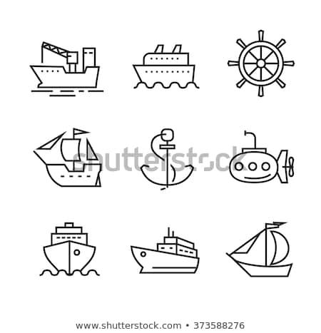 Jacht łodzi ikona wektora ilustracja Zdjęcia stock © pikepicture