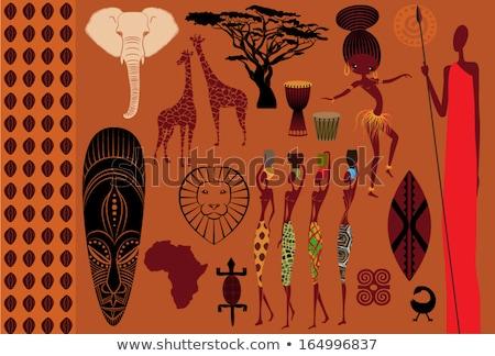 Masai man and African woman Stock photo © adrenalina