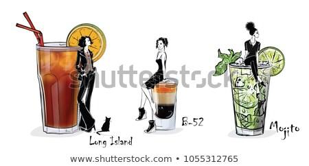 популярный коктейль Мохито подробный рецепт Ингредиенты Сток-фото © ColorHaze