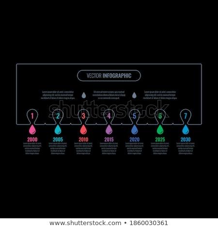 Professionnels turquoise annuel rapport affaires brochure Photo stock © SArts