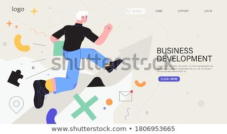 Maneira sucesso teia modelo negócio seta Foto stock © tashatuvango