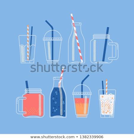 Pić słomy ikona wektora ilustracja Zdjęcia stock © pikepicture
