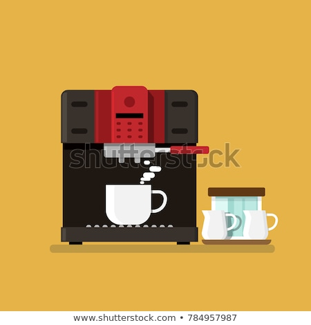 Kitchen Appliance Coffee Machine with Cup Vector Stock photo © robuart