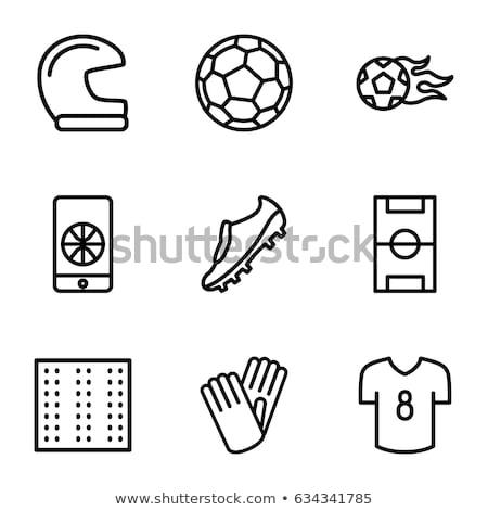 Voetbal wedstrijd telefoon icon schets illustratie Stockfoto © pikepicture