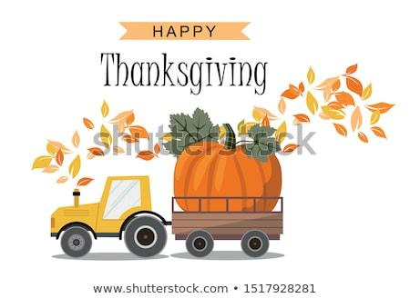 Harvester and Tractor, Harvest Festival Vector Stock photo © robuart