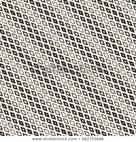 Repeating Rectangle Shape Halftone. Modern Geometric Lattice Texture. Vector Seamless Pattern Stock photo © samolevsky