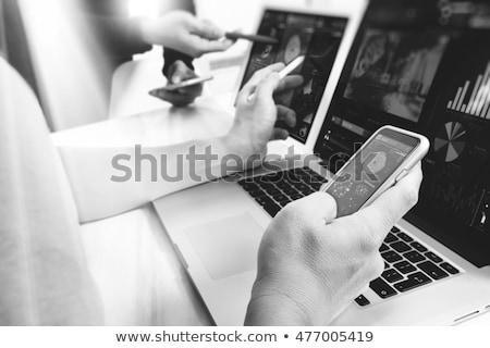 New black and white laptop Stock photo © dvarg
