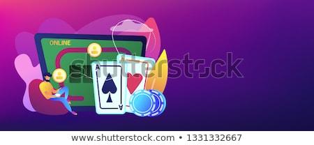 онлайн покер вектора метафора игрок играет Сток-фото © RAStudio