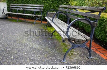 park · bank · smal · hdr · afbeelding - stockfoto © bobkeenan