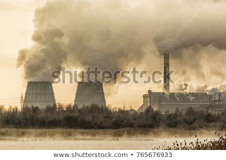 Chimney emitting smoke stock photo © duoduo