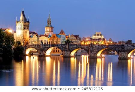 Noc Cityscape Praha Czechy budynku miasta Zdjęcia stock © SimpleFoto