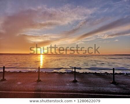 озеро Саскачеван посадка солнце природы облаке Сток-фото © SimpleFoto