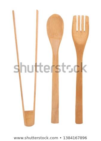 木製 サラダ トング 木材 キッチン サーバー ストックフォト © leeser