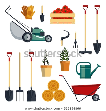 Gardening Group: Gardening Tool And Equipment In Group Vector Vector