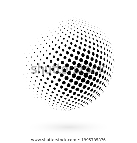 3d ball design with black dots Stock photo © experimental