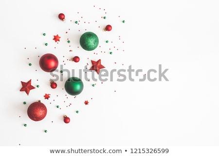 красный зеленый Рождества украшения красочный Сток-фото © klsbear