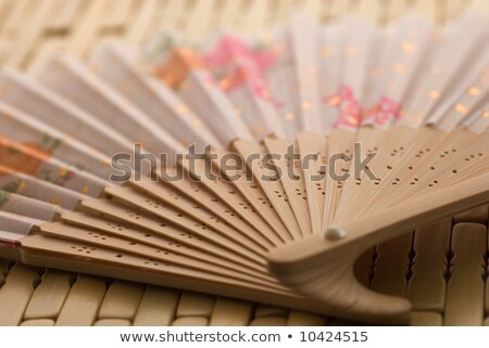 two japanese folding fans stock photo © oblachko
