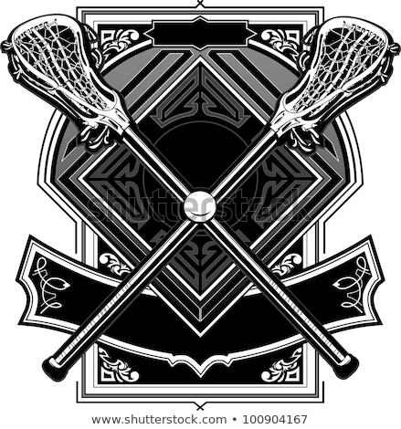 Stock photo: Lacrosse Sticks Ornate Graphic Vector Template