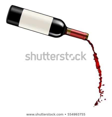 wine pouring from bottle into glass stock photo © backyardproductions