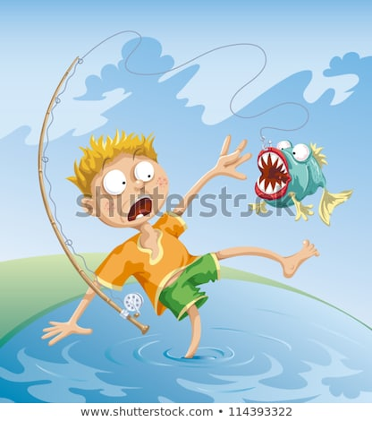 Horrible Fishing Accident stock photo © mammothis