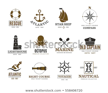 vintage nautical symbols stock photo © mikemcd