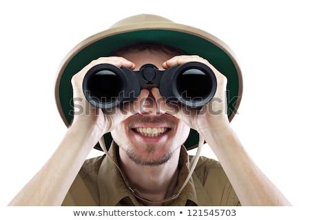 hunter looking through binoculars stock photo © photography33