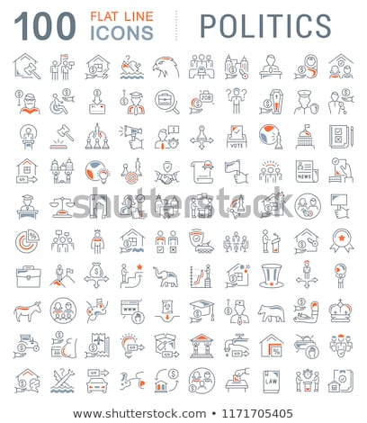 politics election and political party icons stock photo © stoyanh