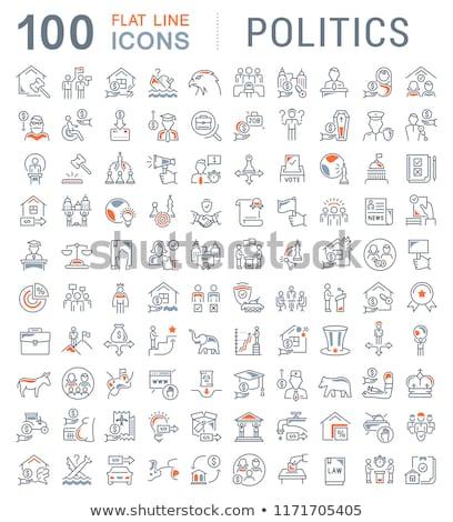 политику выборы политический вечеринка иконки вектора Сток-фото © stoyanh