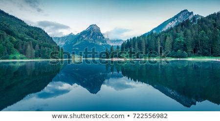 Stock photo: water dorps in green nature