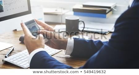 Stockfoto: Business · nieuws · witte