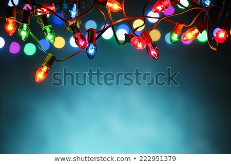 blue christmas light background stock photo © artjazz