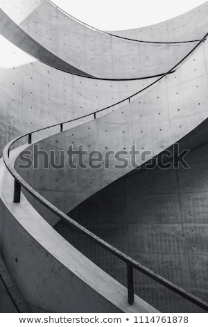 Foto stock: Curved Concrete Steps