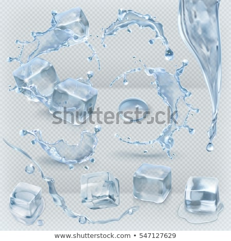 Ice Cube vallen water golven spatten Stockfoto © courtyardpix
