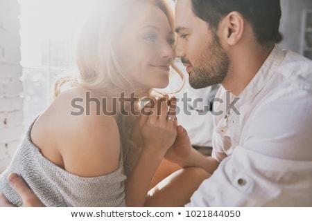 Affectueux couple femme paysage amis Photo stock © photography33