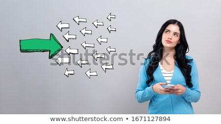 Een verschillend pijl tegenover richting groep Stockfoto © iqoncept