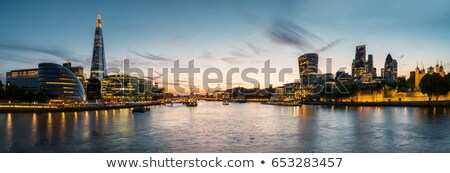 river in city at sunset stock photo © johny007pan