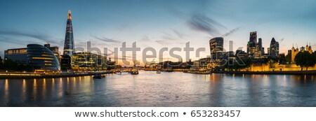 реке город закат зданий воды Бухарест Сток-фото © johny007pan