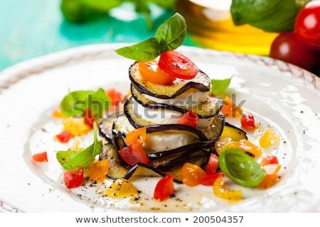 berenjena · mozzarella · cena · almuerzo · frescos · comida - foto stock © m-studio