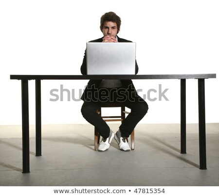 Expressive affaires séance bureau affaires bureau Photo stock © photography33