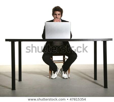 表現の ビジネスマン 座って デスク ビジネス オフィス ストックフォト © photography33