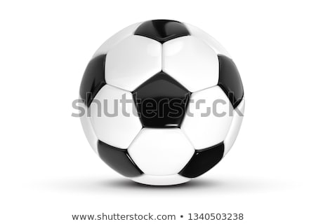 Stock photo: soccer ball on stadium