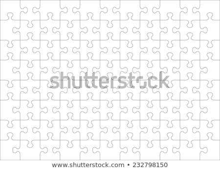 Jigsaw puzzle pattern Stock photo © fixer00