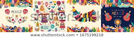 Cinco crânios conjunto desenhos humanismo crânio Foto stock © fixer00