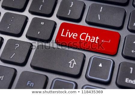 düğme · klavye · yaşamak · destek · modern · bilgisayar · klavye - stok fotoğraf © tashatuvango